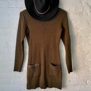 AGB Green Midi Length Sweater Dress Size M